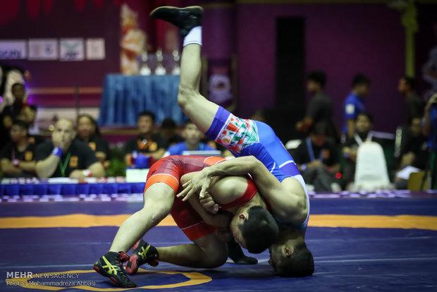 Asya Gençler Güreş Şampiyonası'nın ikinci gününden karelerا در تایلند