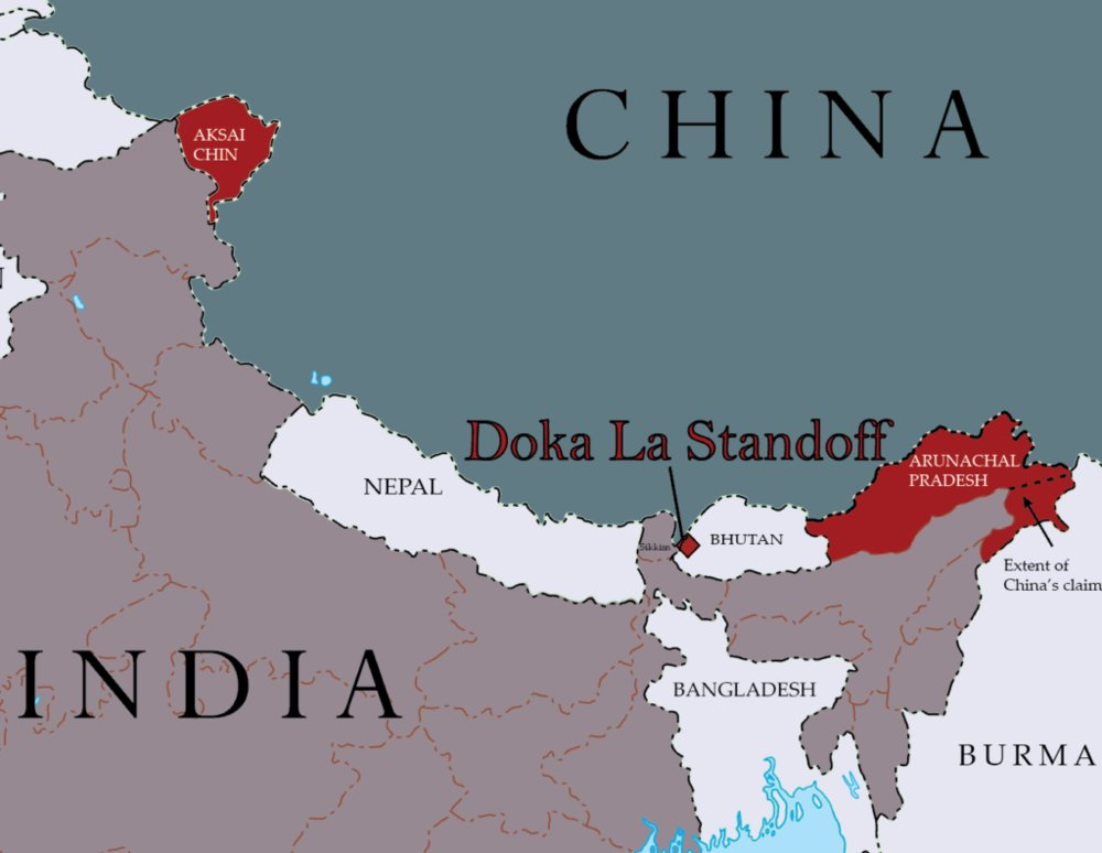 Image result for doklam stand off