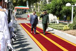 استقبال رسمی سردار حسین دهقان وزیر دفاع ایران از محمود الحیالی وزیر دفاع کشور عراق