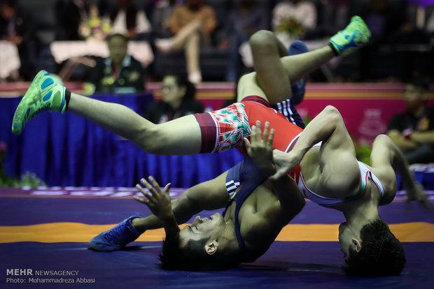 Asya Serbest Güreş Şampiyonası'ndan kareler
