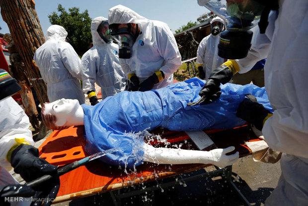 مانور وقوع حمله شیمیایی