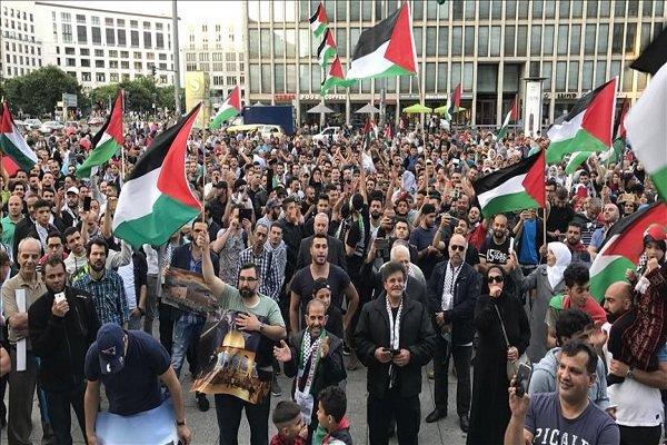 تظاهرات مردم آلمان علیه اقدامات اخیر رژیم صهیونیستی در برلین