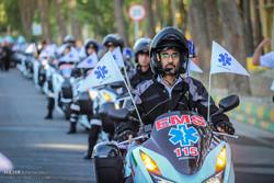 رونمایی از ۲۰۰ دستگاه موتور لانس در تهران با حضور وزیر بهداشت