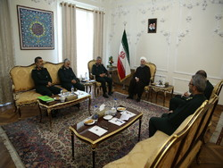 Top IRGC commanders meet President Rouhani