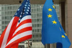 پرچم اتحادیه اروپا و آمریکا
