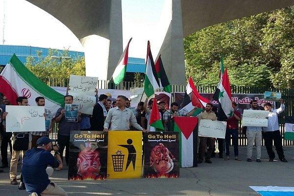مجموعات طلابية في طهران تؤكد على تضامنها مع ابناء الشعب الفلسطيني والقدس