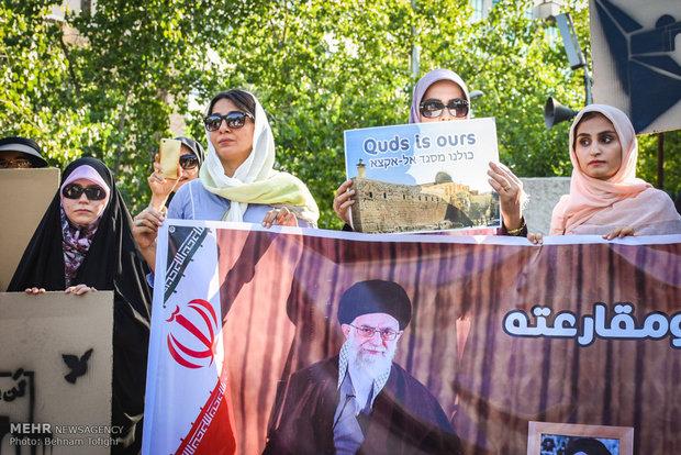 Tahran'daki Mescid-i Aksa'ya destek gösterisinden kareler