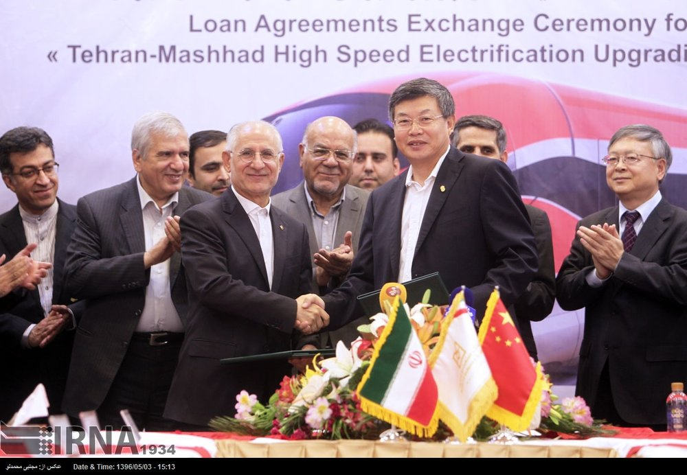 China to provide $1.5b finance for Iran railway project