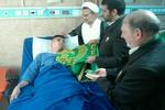 عیادت خدام بارگاه منور رضوی از بیماران در تهران