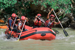 Marathon rafting competitions in Karaj