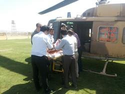 انتقال ۱۵ بیمار توسط اورژانس هوایی در استان کرمانشاه
