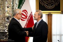 دیدار لاریجانی با رییس فراکسیون وفاداری به مقاومت مجلس لبنان