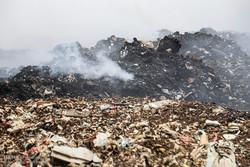 آتش سوزی در محل دفن زباله ها در صفیره