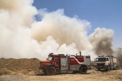 آتش سایت پسماند صفیره در اهواز خاموش شد