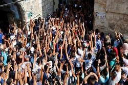 زخمی شدن ۶۰ فلسطینی در درگیری های مسجد الاقصی