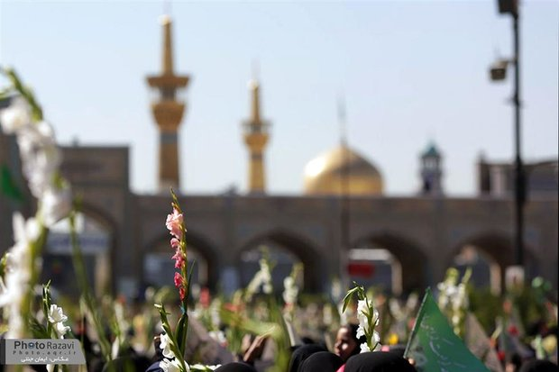Flower Strewing at Razavi Holy Shrine