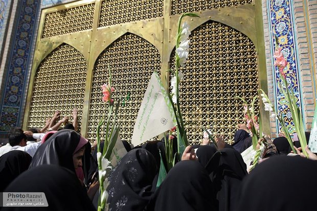 Flower Strewing at Razavi Holy Shrine