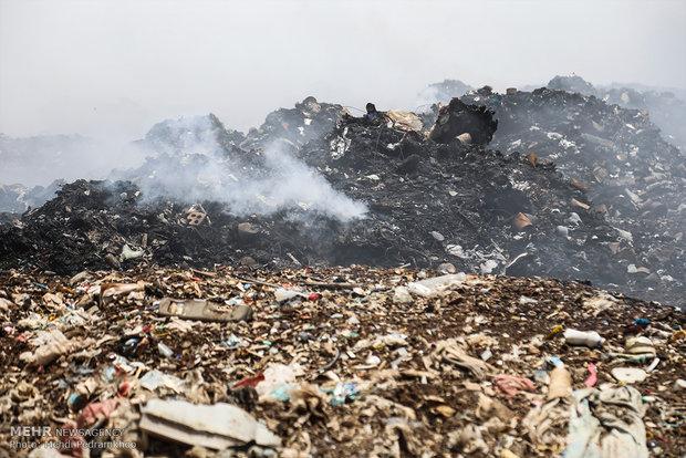 وضعیت دفن زباله در مرکز دفن آرادکوه مورد تأیید محیط زیست نیست