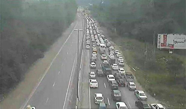 ترافیک سنگین در آزاد راه تهران-کرج