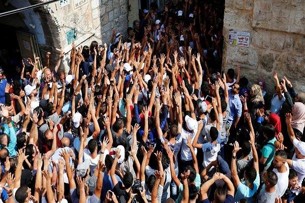 """شعارات """"يسقط آل سعود"""" في القدس ردا على ادعاءات النظام السعودي"""