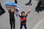 راهپیمایی نمازگزاران قمی در حمایت از مسلمانان میانمار و فلسطین