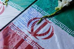 مراسم تشییع پیکر چهار شهید گمنام در تبریز