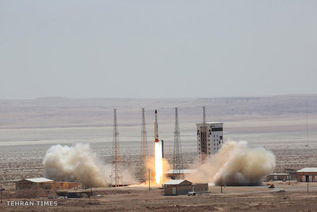 Iran launches satellite-carrying rocket into space