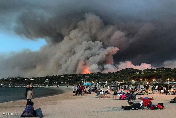 آتش سوزی در فرانسه