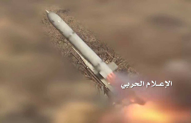 """یمنی فورسز کا سعودیہ کے فوجی ٹھکانے پر"""" زلزال 1 """" بیلسٹک میزائل سے حملہ"""