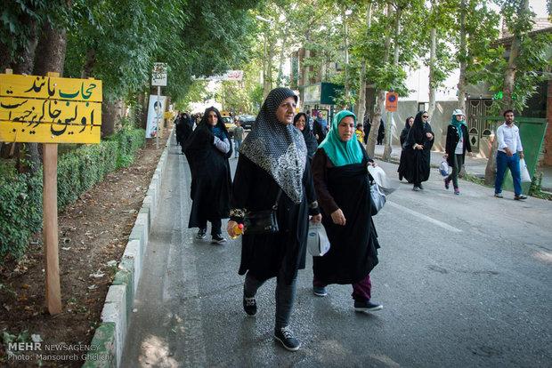 همایش پیاده روی خانوادگی به مناسبت هفته حجاب و عفاف برگزار شد