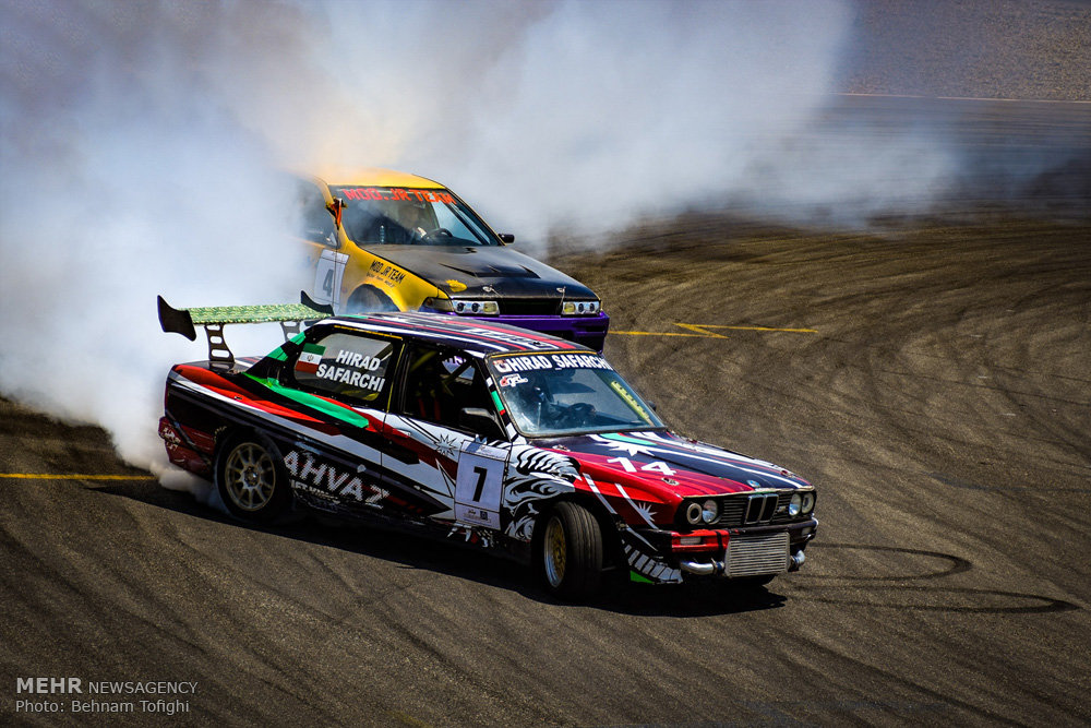 Mehr News Agency - 2nd round of drift racing at Azadi Complex