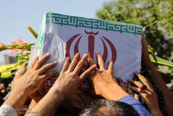 مراسم تشییع پیکر دو شهید گمنام در هادیشهر