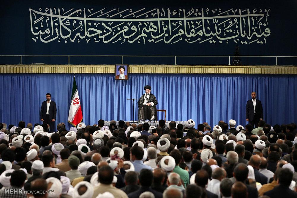 Iran top leader urges Muslims against US, Israel