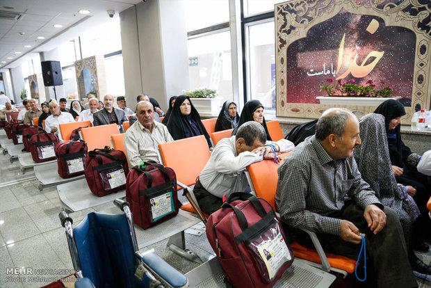 الحجاج الايرانيون يودعون وطنهم قاصدين مهبط الوحي