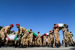 ورود پیکر 48 شهید تازه تفحص شده دفاع مقدس از مرز شلمچه