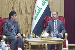 الوفد الاعلامي الإيراني يلتقي رئيس البرلمان العراقی سلیم الجبوری