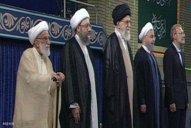 بدء مراسم تنفيذ حكم رئاسة الجمهورية للرئيس روحاني