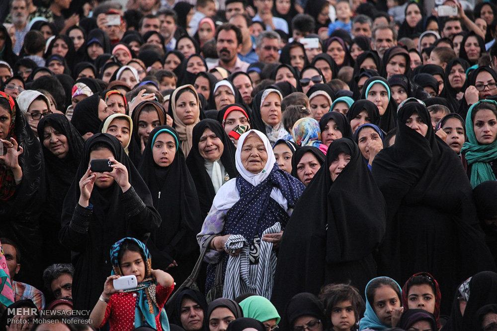 استقبال از کاروان زیر سایه خورشید در امامزاده شهدای باقریه