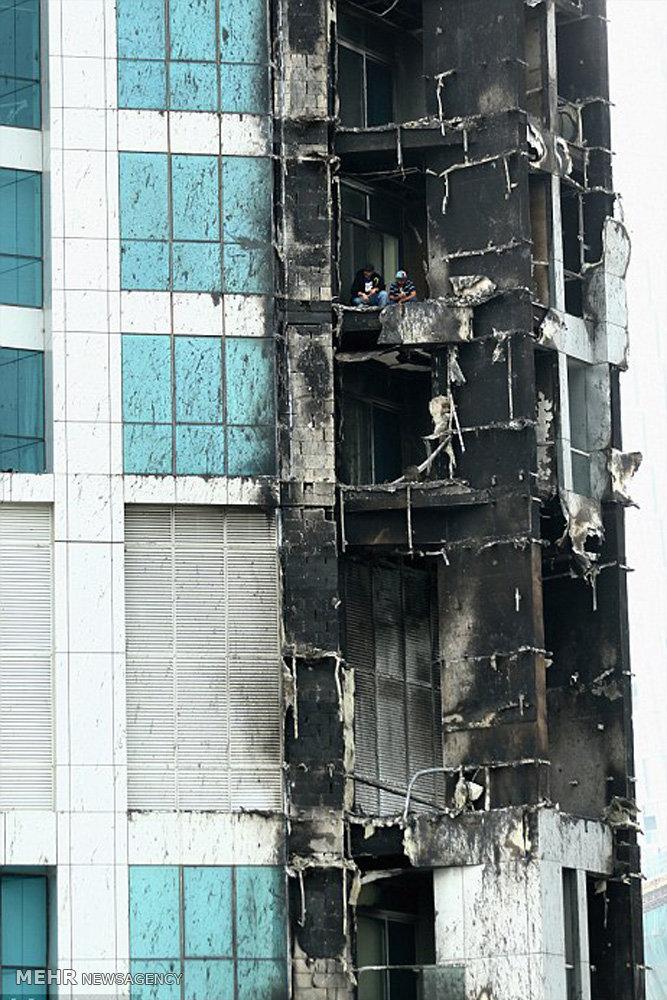 آتش سوزی در برج ۷۹طبقه دبی