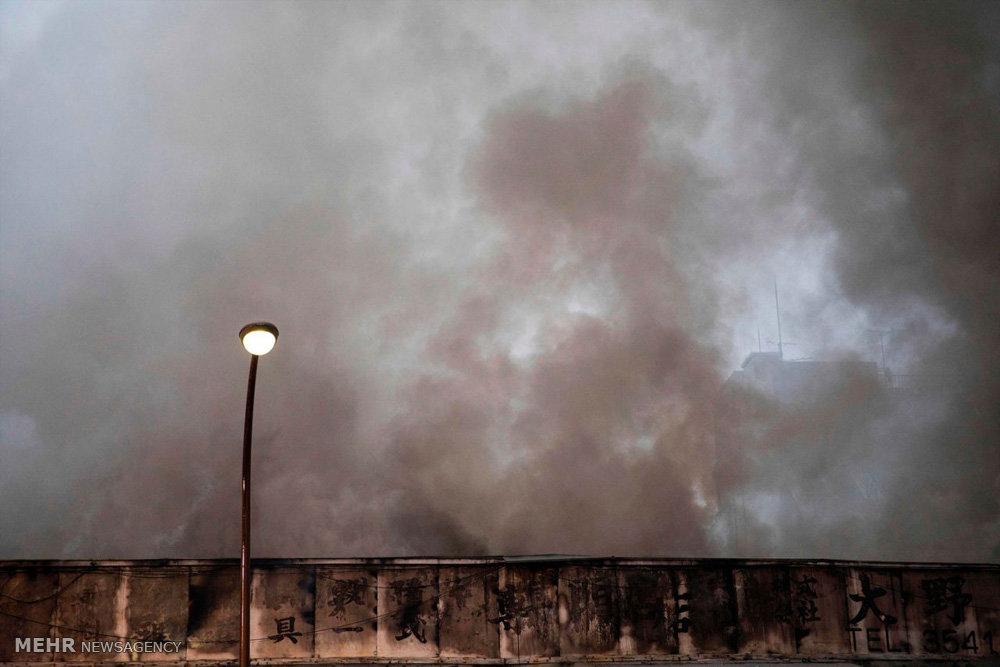 آتش سوزی در بزرگترین بازار ماهی جهان