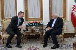 دیدار ظریف و وزیر مشاور در امور خارجه فرانسه