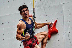 Iran's Alipour wins gold at Asian Rock Climbing Competition