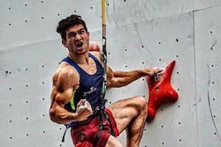 رضا علیپور در جام جهانی سنگنوردی مدال برنز گرفت