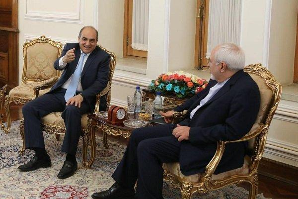 دیدار رئیس مجلس ملی قبرس با ظریف