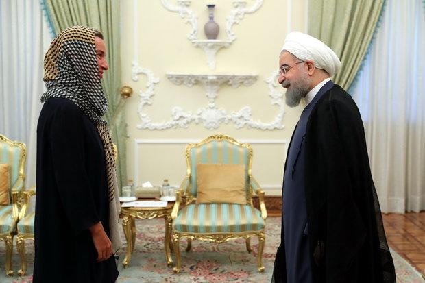 Federica Mogherini meets Rouhani