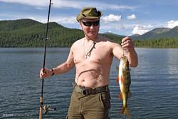 Putin'in yaptığı tatilden kareler