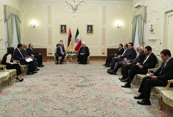 Rouhani discuss boost in ties with Armenia, Belarus