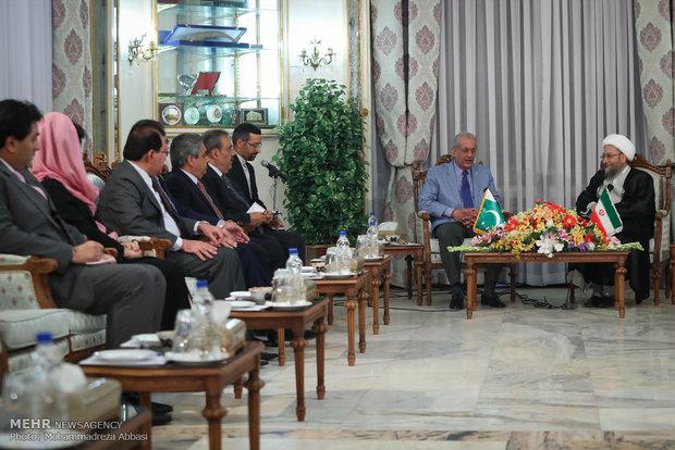 Judiciary head meets with Pakistan's Senate chairman
