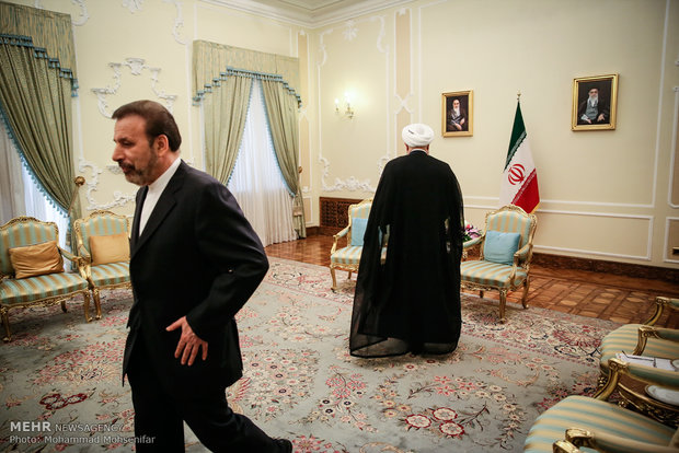 Rouhani meets foreign dignitaries