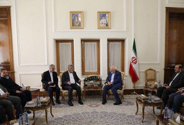 Hamas delegation meets with FM Zarif